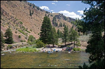 View of Camas Creek camp.