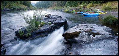 Missouri Creek camp along the Rogue River, OR.