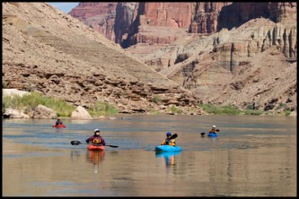 Paddling amongst the views of the Grand Canyon.