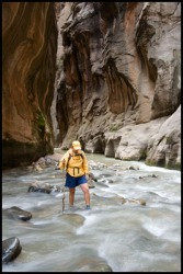Mary in ZIon Narrows.