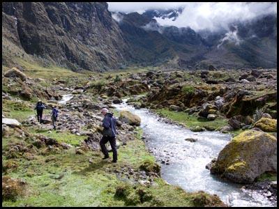 Hiking along Rio Collanes.