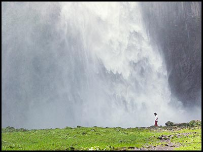 Mary and Waterfall.