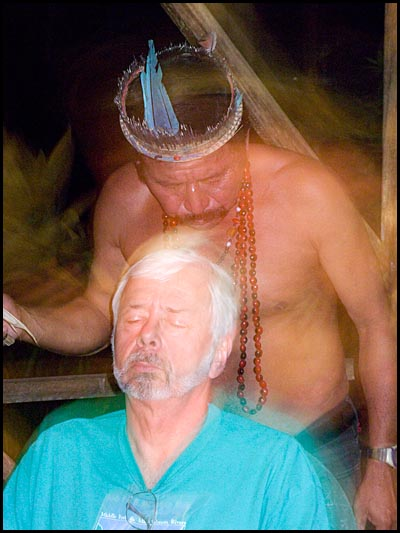 Shaman performs a cleansing.