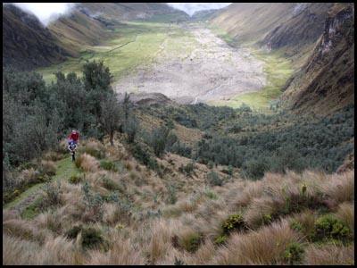 Looking across Collanes Valley, El Altar, Ecuador.