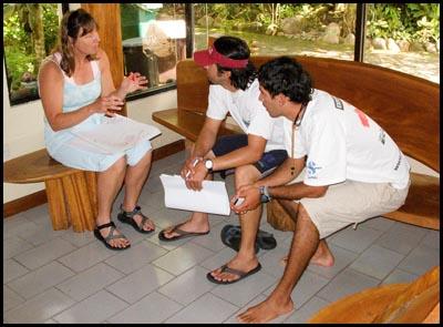 ACA classroom in Ecuador.