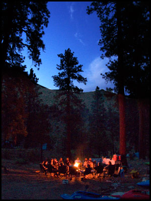 campfire_group_river_trip_Midle_fork_salmon_Idaho