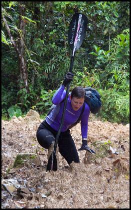 Deb_woman_kayaker_mud_Jondachi_Ecuador.