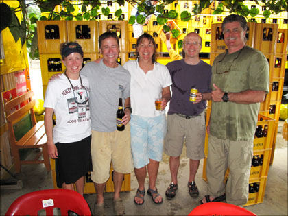 group_beer_cases_kayakers_Ecuador