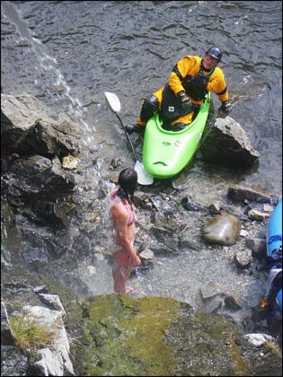 kayaker_drysuit_bikini_sunflower_hotsprings
