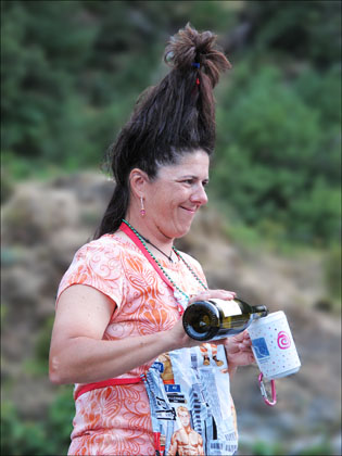This fine bottle of Carbernet makes Katryns hair stand on end.