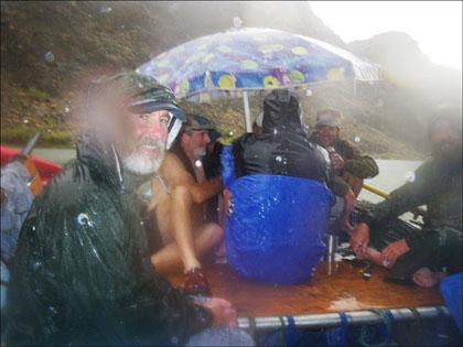 Desert rain at Galloway camp.