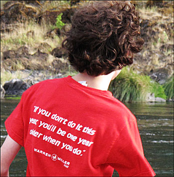 Sound advice from the back of Jonathans T Shirt.