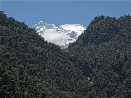 North face of volcan Antisana.