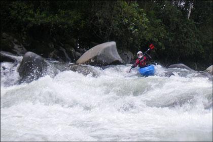 Kayaker on Cosanga river.