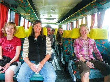 Group on Bus, Ecuador