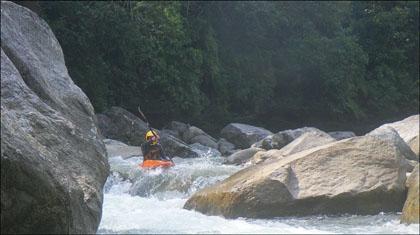 Kayaker on Rio Piatua