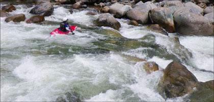 Kayaker Rio Piatua.