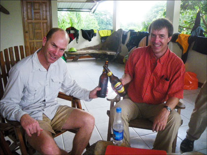 Dave Steindorf of American Whitewater and Matt Terry of Ecuadorian Rivers Institute.