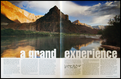 Grand canyon article in ICF Planet Canoe magazine.