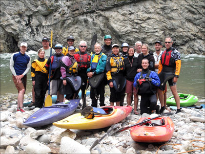 June 25th Kayak group Middle Fork Salmon, ID