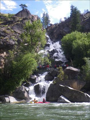 kayakers_hikers_Waterfall_Creek