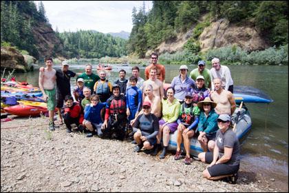 Group shot Rogue River
