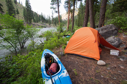 Kayak, Tent, Middle Fork Salmon