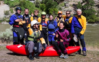 Kayak group Middle Fork