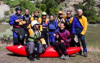 Kayak group Middle Fork