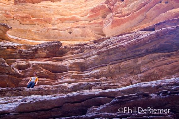 Hiker, Blacktail Canyon