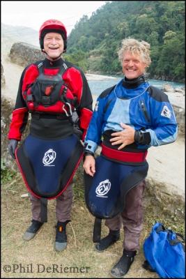 kayakers, laughing, Bhutan