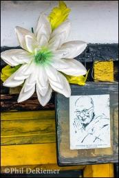 Sketch, Dali Lama, Bhutan, Flower