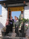 "There is a dress code to be able to enter to the Dzongs. Here are the girls, ""temple worthy""."