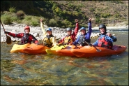 kayakers, paro Chu, Pa Chu, Bhutan, Happy