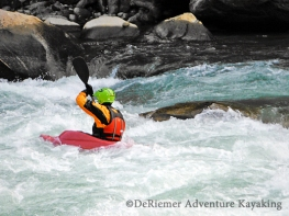 Keith exiting the Class IV rapid on the Mo Chu.