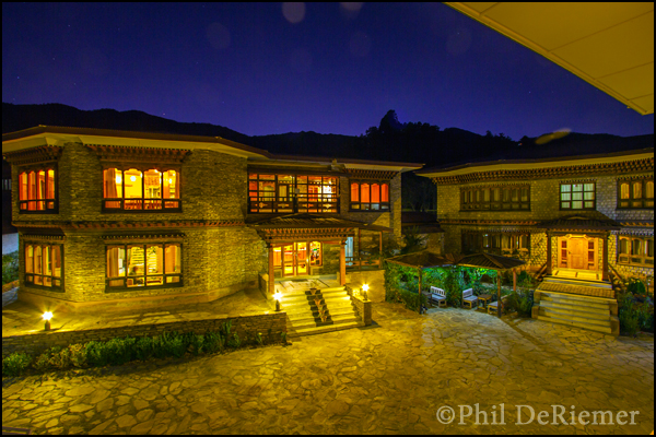 lodge, night, Bhutan