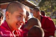 Monk, smiling, Bhutan
