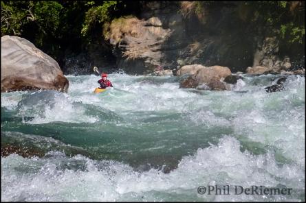 kayaker, Bhutan, Emma Datsi canyon