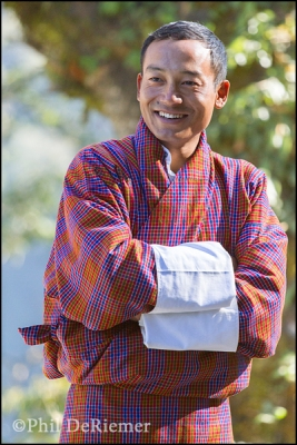 Bhutanese, man, gho