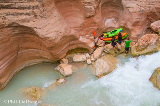 Vertical parking in Havasu Creek.