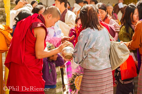 Paro_Bhutan_Monk_Blessing