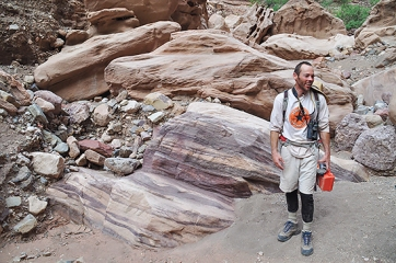 Kayak guide and author of Grand Canyon River Hikes, Tyler Williams. Photo courtesy Alexander Sukhodolov