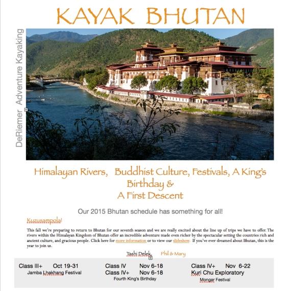 Bhutan_Kayak_Schedule