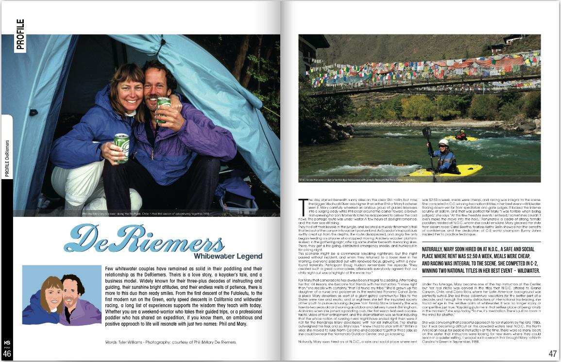 Kayak Session Magazine Profile