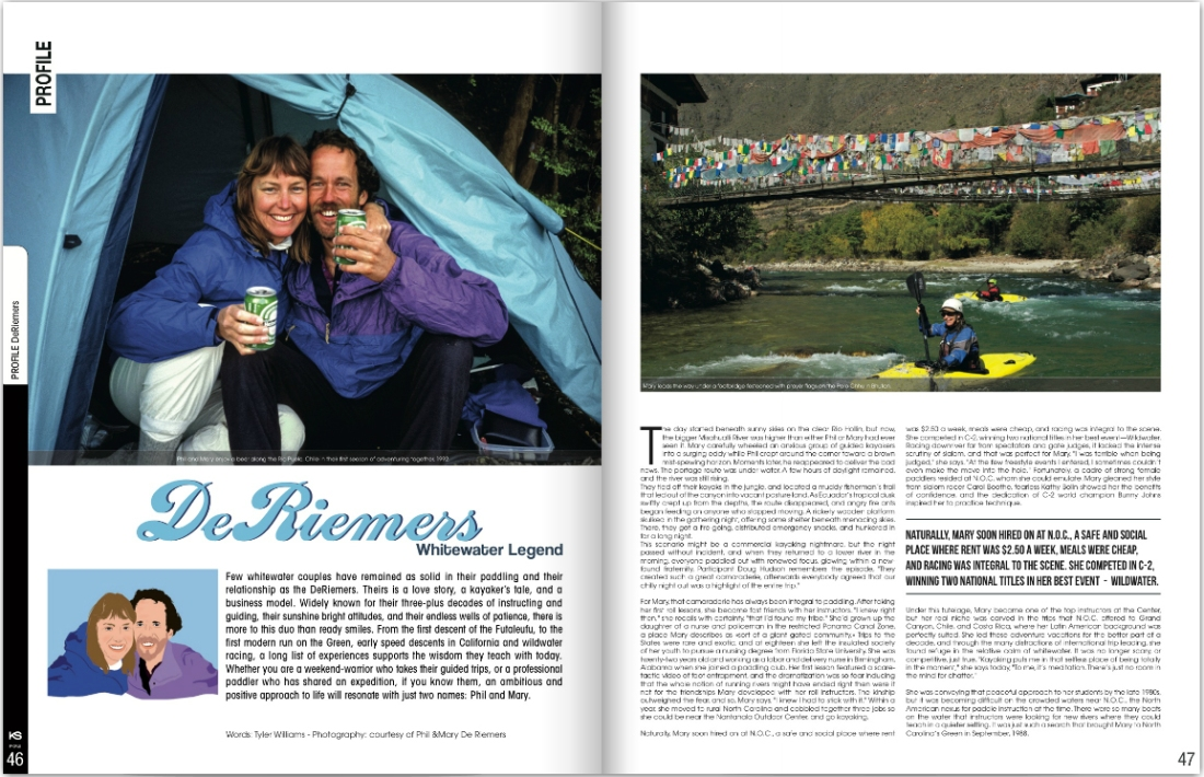Kayak Session Magazine Profile